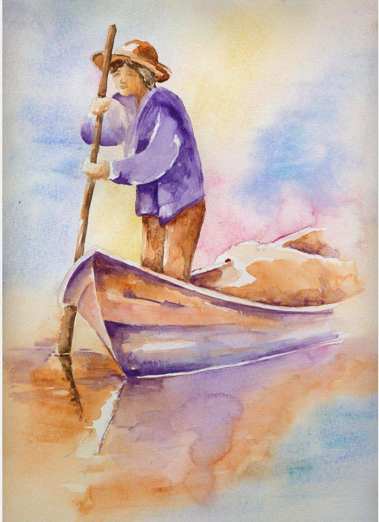 Barque multicolore