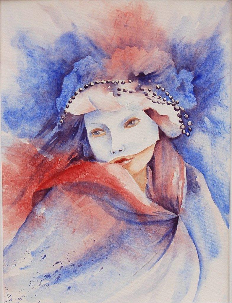 Masque-bleu-et-rouge